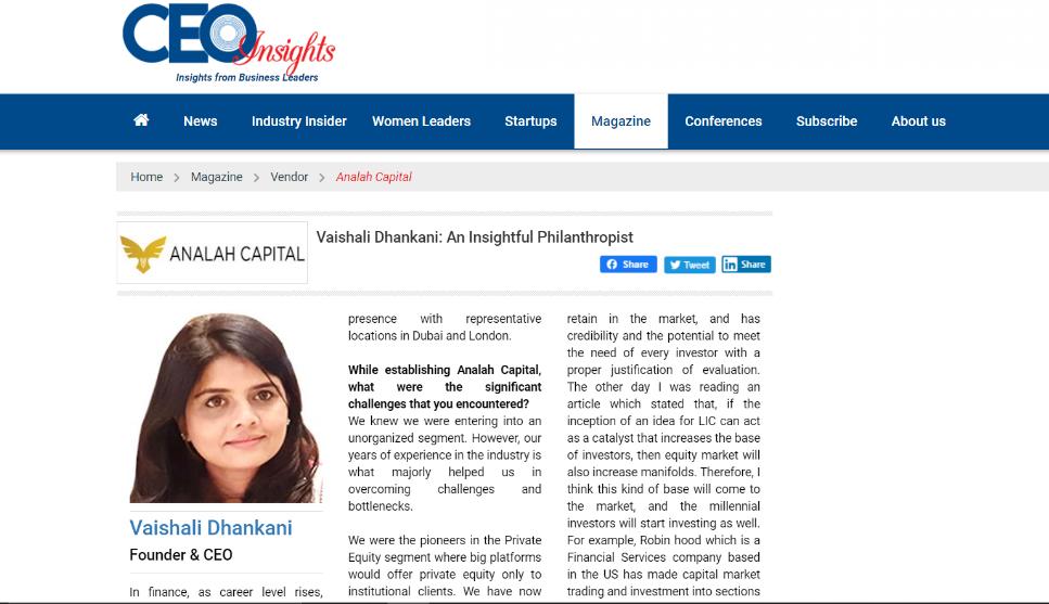 CEO Insights Analah Capital