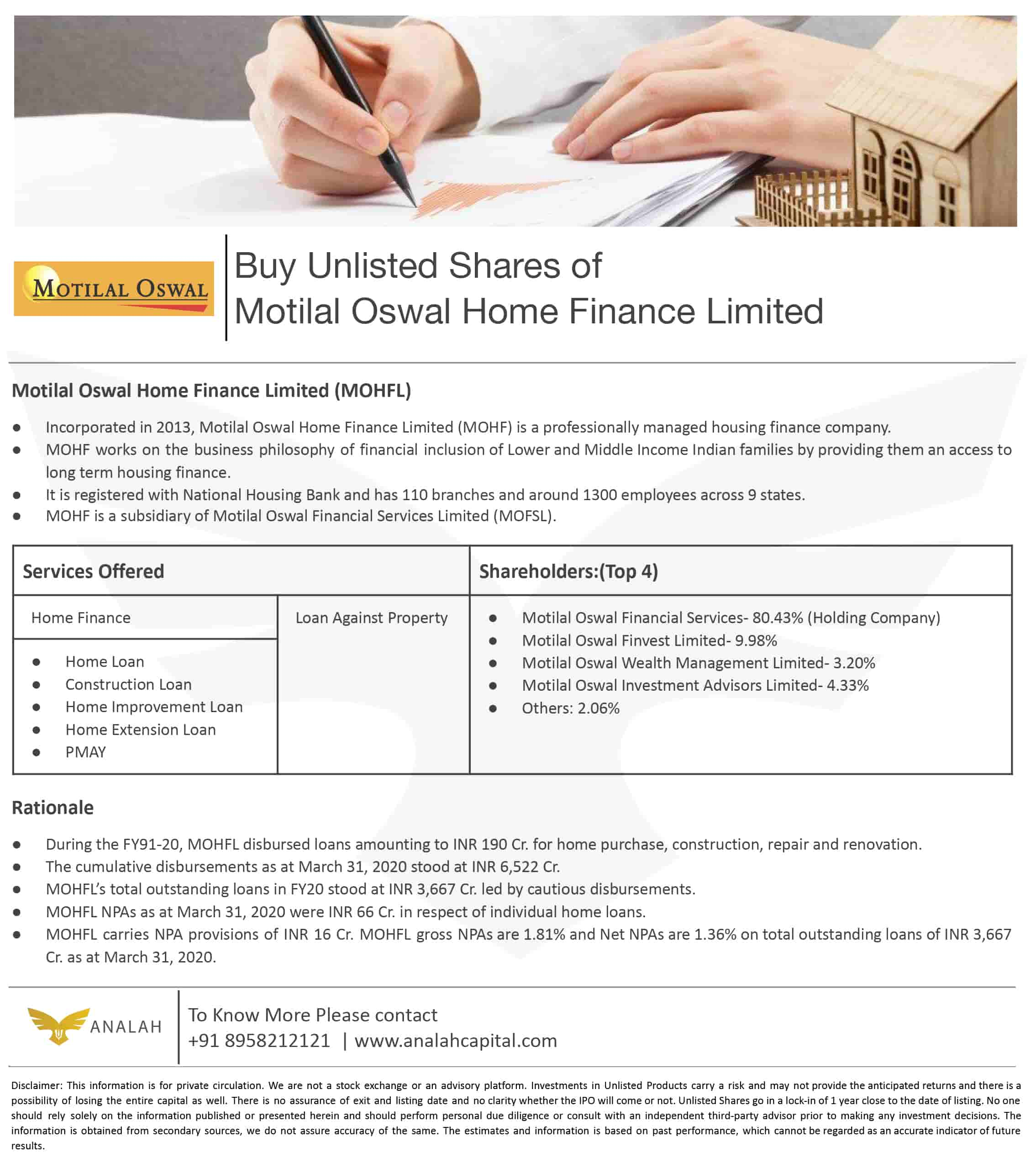 Motilal Oswal Unlisted Shares